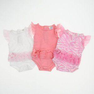 Baby Pink & White Crew Neck Onesie's Size 0-3 M